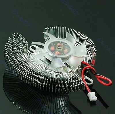 New 2 Pin Small QQ Computer Graphics Card Heatsinks Cooler Cooling Fan