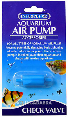 Interpet Check Valve For Tetra Marina Eheim & More Fish Tank Aquarium Air Pump