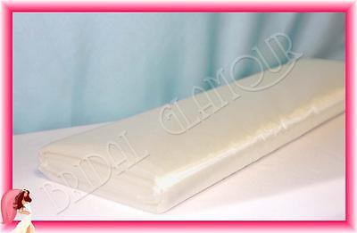 IVORY 1.4m x 36m Organza Bolt Large Roll Shimmering Wedding Fabric Drape Tulle