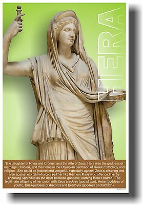 Ancient Greece - Goddess Hera - Greek Mythology NEW CLASSROOM POSTER