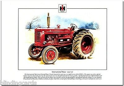 INTERNATIONAL McCORMICK FARMALL B450 TRACTOR - Fine Art Print - A4 size 1957-70