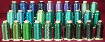 Marathon Rayon Embroidery Machine Thread 1000m Spool Choice of Colours