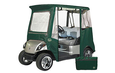 Custom Drivable 2 Person Golf Cart Enclosure Cover for Yamaha Drive - Green