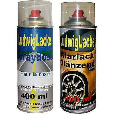 2 Spray im Set 1xAutolack 1x Klarlack 400ml für NISSAN  White  598
