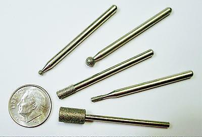 Diamond drill bit shaped tip sampler 3 pcs various shapes grits our pick T023