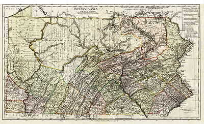 1797 PA MAP Shanksville Seward Shickshinny Trumbauersville Warminster SURNAMES