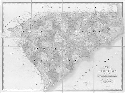 1839 Nc Map Bladen Brunswick Buncombe Burke County Old North