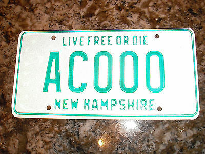 New Hampshire Sample License Plate Ac000