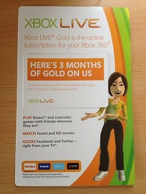3 Months  Xbox 360 Live GOLD Subscribtion *NEW*