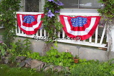 1 TWILL AMERICANA PATRIOTIC USA FLAG Bunting 36x22 PERFECT FOR YOUR PORCH!