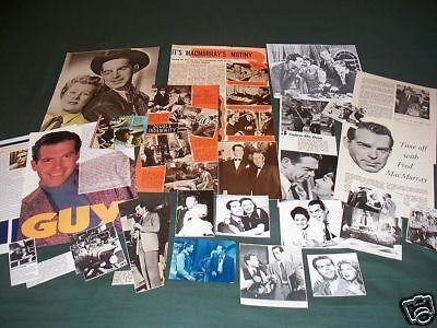 Fred Macmurray  - Film Star - Clippings/cuttings Pack