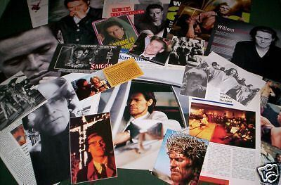 Willem Dafoe  - Film Star  - Clippings /cuttings - Pack