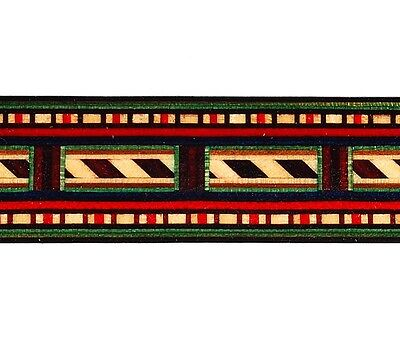 """Dazzling 1"""" Compound Polycromatic Buffard Frères Marquetry Banding (Inlay-112)"""