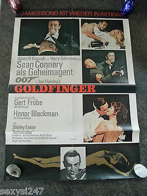 Goldfinger 1969 Original 1 Sheet Cinema Poster Sean Connery 007 Bond