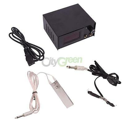 Pro Tattoo Machine LCD Digital power supply Foot Pedal Clip Cord #644