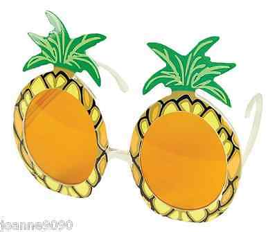Adult Pineapple Hawaiian Novelty Beach Sun Glasses Hen Stag Party Fancy Dress BN