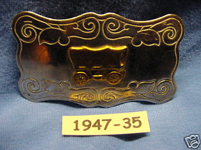 OLD Nickel Silver Covered Wagon Master Cowboy Western Buckle MAKE ME AN OFFER