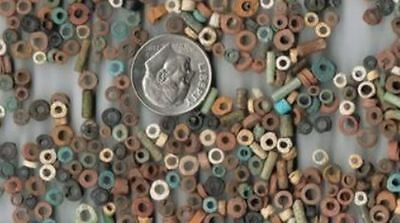 30 Ancient Egyptian  Mummy Faience Beads 600Bc