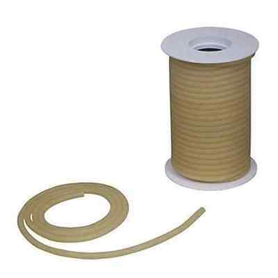 "50 Feet 3/16""ID x 1/8 x 7/16OD Natural Amber Latex Rubber Tubing Heavy Duty"