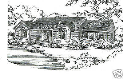 3 Bdrm 2 Bath 1780 SF Ranch / Opt 2 Car Garage Under House Building Plans