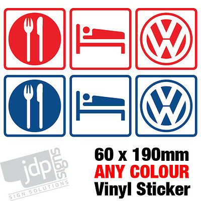 Eat Sleep Vw Body Window Decal Vinyl Sticker - Any Colour