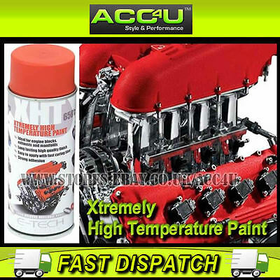 E-Tech Xtremely RED High Temperature VHT Car Engine Block Exhaust Spray Paint