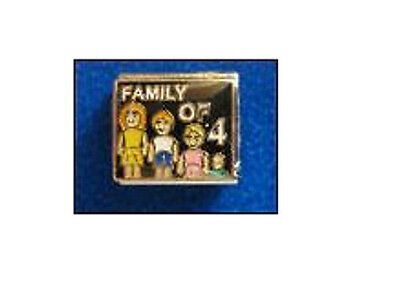 9mm Classic Size Italian Charms E158 Family of 4