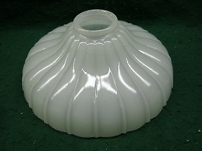 "Antique Scalloped Light Shade Milkglass 9""  # 514-12"