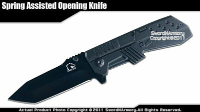 Falcon Brand Spring Assisted Opening Knife Bounty Hunter Folding Blade Gun Style