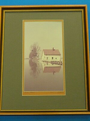 FANTASTIC FRAMED SIGNED & DATED PHOTOGRAPH by LOUIS J. SPEAR CHALON FRANCE1989
