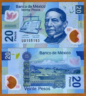 Mexico, 20 Pesos, 2010, Polymer P-122-New M or N-Serie UNC