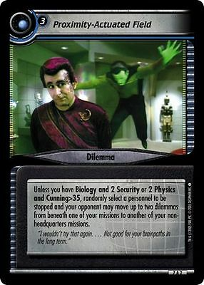 Star Trek CCG 2E Strange New Worlds Archive Foil 7A2 Proximity-Actuated Field VG