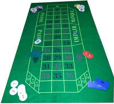 Green Baize Layout for Roulette and Black Jack