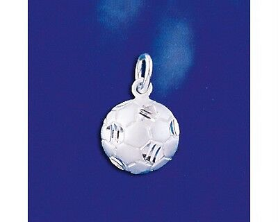 Sterling Silver Soccer Ball Pendant Futbol Football Charm Solid 925 Italy New
