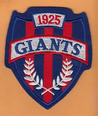 OLD NEW YORK NY GIANTS LARGE 4 3/4 inch CREST SHIELD JACKET JERSEY PATCH UNSOLD