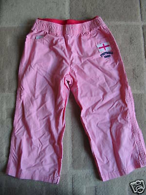 BNWT NEXT Pink ENGLAND Cropped Trousers 12 Years 152cms