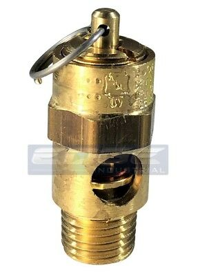 """New 1/4"""" safety relief valve for air compressor 135 psi"""