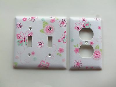 DOUBLE LIGHT SWITCH PLATE & OUTLET COVER W/ KIDSLINE BELLA
