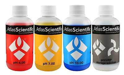 PH Buffer/Calibration Solution Kit 4, 7, 10 and Storage 125ml (4oz)