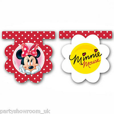 2m Disney Minnie Mouse Polka Dots Red Flower Party Flag Banner Decoration PS