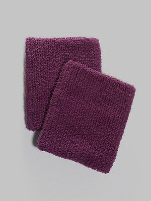 Large Purple Sweat Band Wristbands