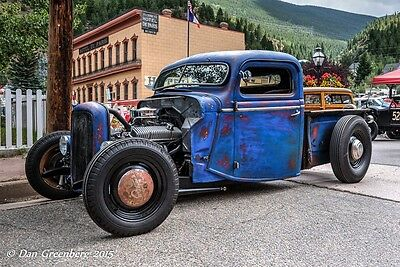Bobber hot rod truck frame,rat rod no fenders,1935-41 Ford cabs,Swept and Z'd