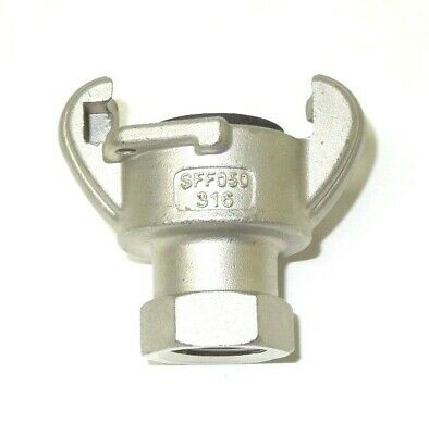 """3//4/"""" HOSE END UNIVERSAL CROWSFOOT COUPLING CHICAGO FITTING PLATED IRON SFH075"""