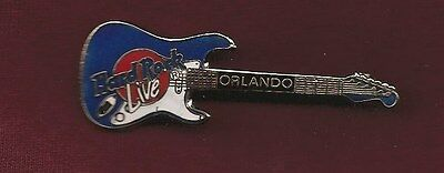 HARD ROCK CAFE PIN ~ ORLANDO HARD ROCK LIVE GUITAR ~ Mint Cond. ROCK ON!