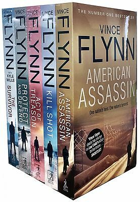 Mitch Rapp Series Collection Vince Flynn 5 Books Set American Assassin,Kill Shot