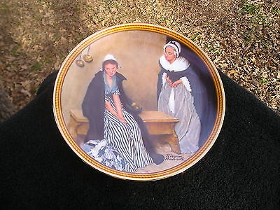 Rockwell Society Colonials Rarest Words Comfort Older Younger Women Bench Plate