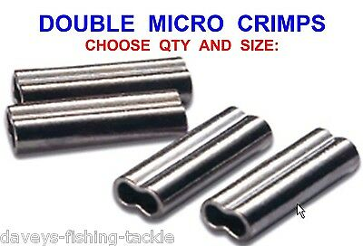 Double Micro Crimps Coarse Sea Fishing Mini Line Mono Braid Wire Trace Sleeves