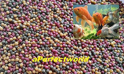 Best Quality+Value Fish Food mixed pellets for Koi, Coldwater Fish, Goldfish