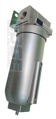"""1"""" Industrial Grade In Line Compressed Air Moisture Trap Water Filter, 250 Psi"""