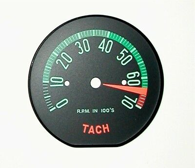 1960 Late 1961 early Corvette Tachometer Face-High RPM -New